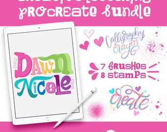 NEW! Creative Lettering Procreate Brush Bundle