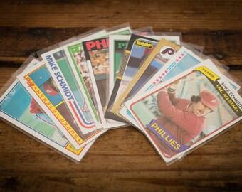 Mike Schmidt Lot, 10 Baseball Cards, Philadelphia Phillies, Vintage 80s