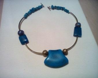 Island Blue Statement Necklace.
