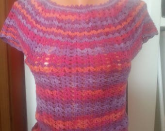Colourful Crochet  T-shirt