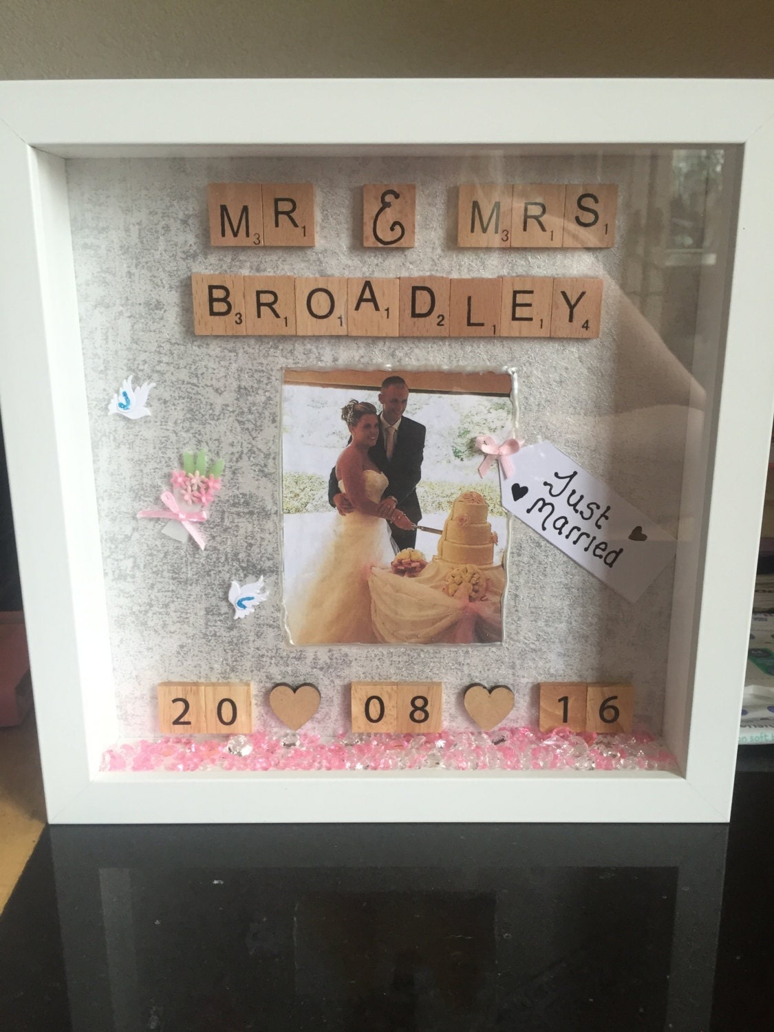 Average Cash Gift For Wedding: Personalised Wedding Gift Wedding Shadow Box Art Mr And Mrs