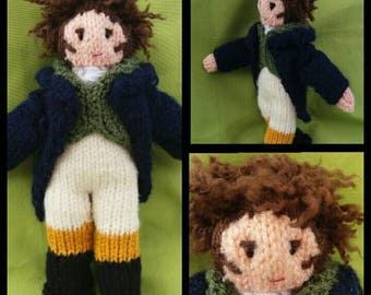 Mr. DARCY - knitting PATTERN - to make knitted doll. Jane Austen, Pride & Prejudice, Regency, CHRISTMAS, birthday gift idea!