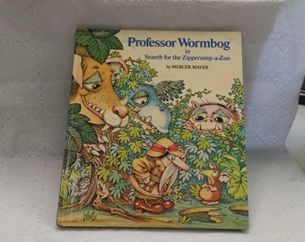 Professor Wormbog in Search for the Zipperump-a-Zoo by Mercer Mayer 1976 Hardcover Children's Book (bb2)