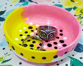 Saffron Unique Hand Painted Trinket Jewellery Dish