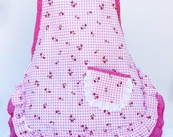 Strawberry Jam pink girls apron