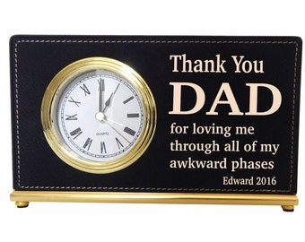 Gifts for Daddy - Dad Gift - Personalized Fathers Day Gift - Father's Day Gift - Desk Clock, LCD053