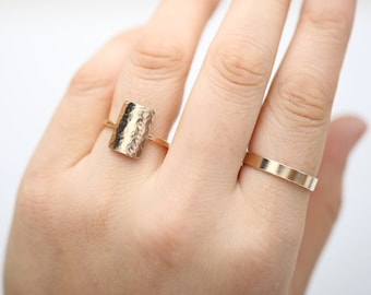 Initial Ring • Gold Cuff Ring • Knuckle Ring • Cuff Ring • Custom Letter Ring • Personalized Ring • Adjustable Stacking Ring • Midi Ring