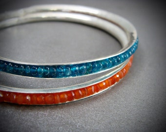 skinny peacock apatite ... stackable bangle