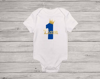 Prince Boy Birthday Shirt | Prince Birthday Outfit | First Birthday Outfit | 1st Birthday Shirt | Cake Smash Outfit | Photo Prop