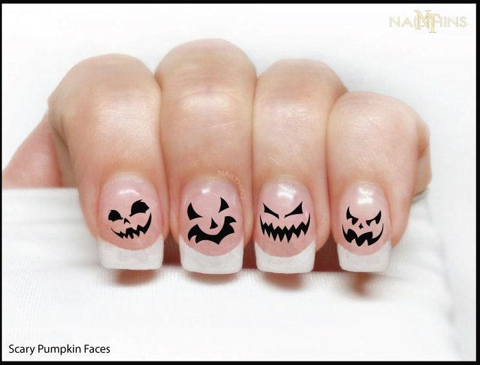 Pumpkin Nail Decal Halloween Nails Jack O Lantern NAILTHINS from ...