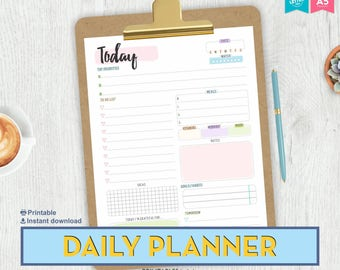 Daily Planner, Printable Planner Pages, LETTER / A5 Printable Planner, Printable Daily Planner, Daily Planner Insert, Planner Inserts