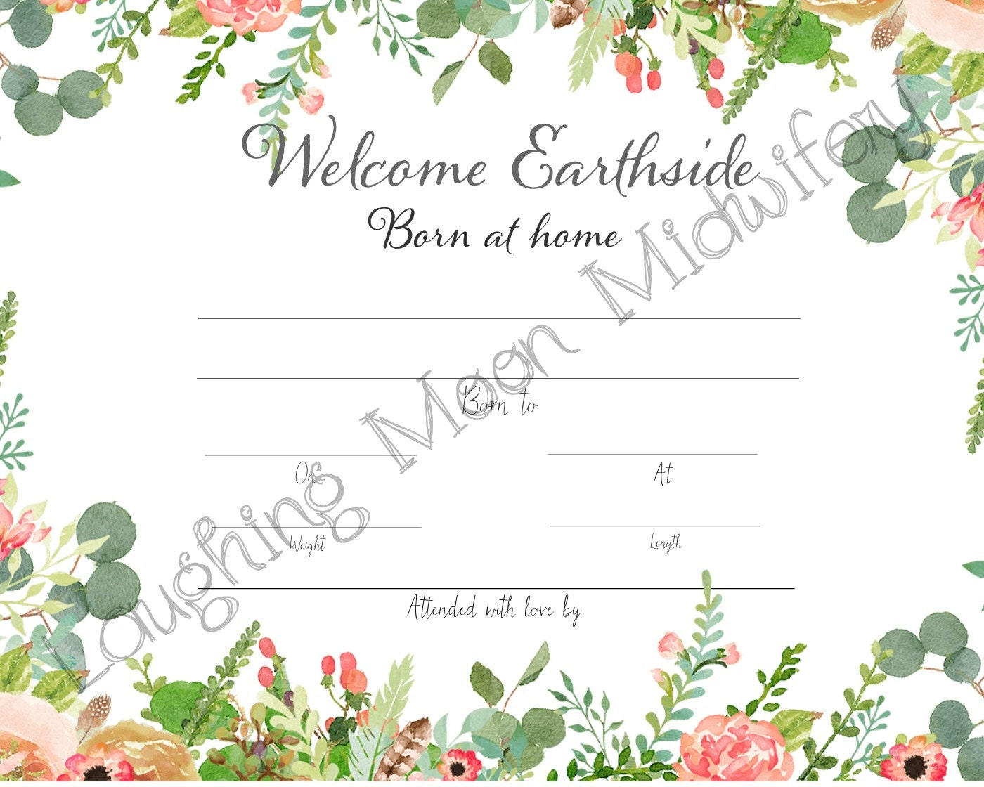 Commemorative birth certificate welcome earthside born at zoom aiddatafo Choice Image