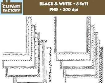 Clip Art: Page Borders - 12 NEW Fun decorative borders - Set #4