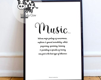 Music Print | Music Decor | Music Lover Gift | Music Lover | Music Wall Art | Gifts for him | Music Decor | Music Quotes | Gifts for her