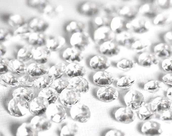 """Scatter Table Crystals, 1,000 Crystal Clear Scatter Diamonds 1/8"""" (1.59mm) 1 carat Bling Pieces Wedding Decor Party Table Decoration"""