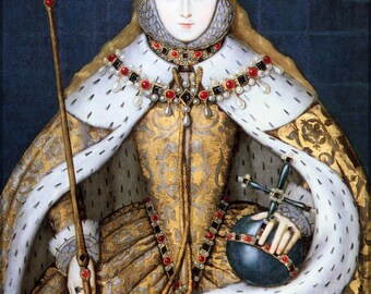 Poster, Many Sizes Available; Queen Elizabeth I In Her Coronation Robes,  Tudor