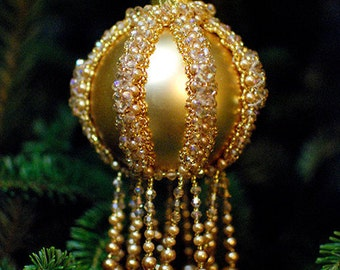 Gold Ball Beaded Ornaments