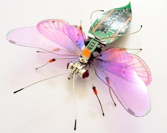 The Jewelled Fantasy Circuit Board Insect by Julie Alice Chappell