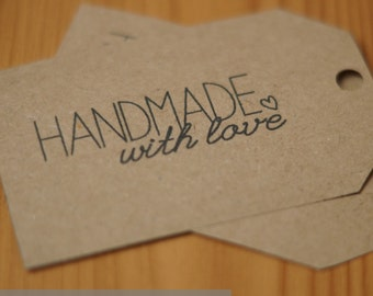 Handmade with love Gift tags Digital Download PDF