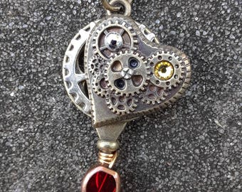 Yellow & Red Steampunk Key