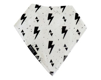 Lightening Bolt Bandana Bib