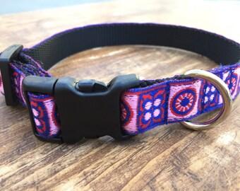 Bright dog collar, Small Dog Collar, red dog collar, female dog collar, dog collar for boy, dog collar for girl, blue dog collar