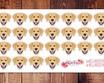 Golden Retriever/Lab Planner Stickers, Pet Planner Sticker, for use in Erin Condren Planners, Happy Planner Stickers
