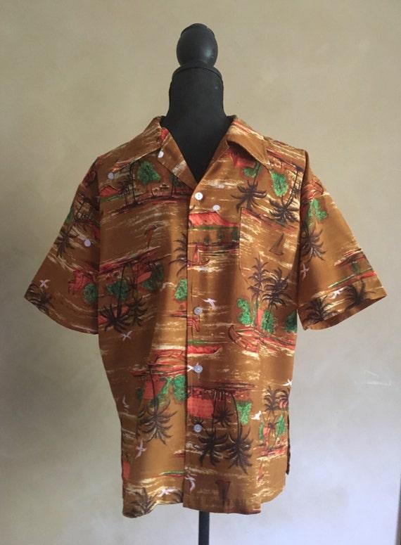 "Vintage Hawaiian Shirt ~ Vintage 1970""s"