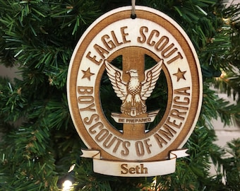 Eagle Scouts® Personalized Christmas Ornament