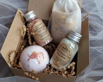 Mini Spa Gift Set, Bridesmaids Gift, Wedding Gift, Mother's Day gift box,Appreciation Gift, Gift for Teachers, Brides Box, Bath Tea gift box