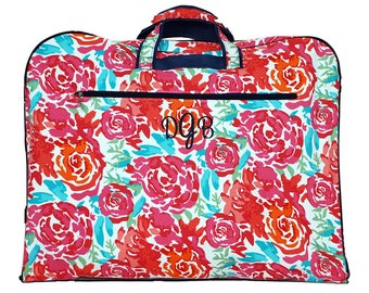 Personalized Clothing Bag | Garment Travel Bag |Dance Bag | Cheer Bag |Womens Garment Bag |Monogram Garment Bag | Floral Meadows Garment Bag
