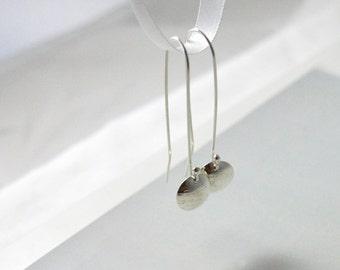 Long Drop Earrings, Gift ideas, Sterling Silver Drop Earrings, Modern Earrings, Australian Jewellery, Elegant Jewellery, FREE SHIPPING