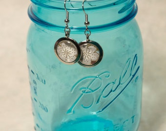 Cherry Blossom Silver Earrings