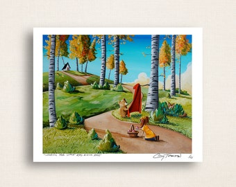Looking For Little Red Riding Hood - caught in a fairy tale - Limited Edition Signed 8x10 Semi Gloss Print (3/10)