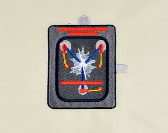 Back to the Future Flux Capacitor 4x4 machine embroidery design
