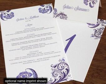 Allison Menu, Table Marker & Place Card Set