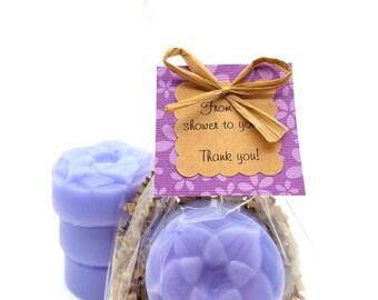 10 Lotus Soap Party Favors, Choose your color, Bridal Shower Favor, Wedding Shower Favor