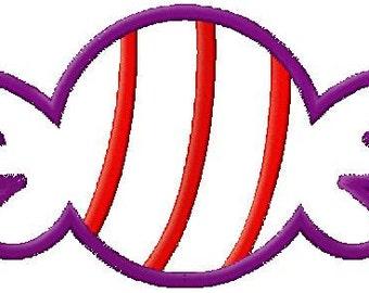 Bonbon Candy Applique Embroidery Design