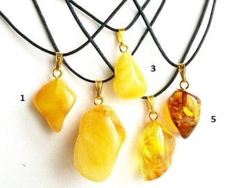 Butterscotch amber pendant yellow amber pendant organic baltic amber pendant necklace amber stone amber jewelry amber gift for her