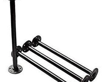 "Black Pipe Table Legs , INCLUDES 4 Complete Table Legs 3/4"" Diameter 4"", 6"", 7"", 8"", 9"",10"",11"", 12"", 18"", 24"",30"" & 36""  ""DIY"""