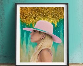 Lady Gaga Art Print or Canvas, Wall Art, Artwork, Gift