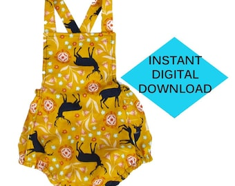 Baby Summer Bubble Jumper- Sewing Pattern- PDF tutorial instant download Romper
