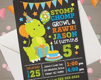 DINOSAUR Birthday Invitation Dinosaur Invitation Dino Invitation Dino Birthday Dino Party Dinosaur Invite Dino-mite Birthday Invitation