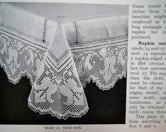 Vintage Crochet patterns 20s 50s - Crochet Work 7th Series D.M.C. Library UK - vintage 1920s 1950s needlecraft book - lace edgings etc