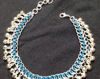 Turquoise Persian Star Belled Anklet