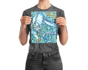 Underwater Panther Glossy photo paper poster