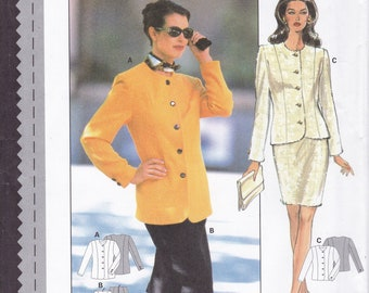 FREE US SHIP Sewing Pattern Burda 3611 Size 10 12 14 16 18 20 Bust 32 34 36 38 40 42 Plus Uncut Princess Seams Jacket Pants Suit new