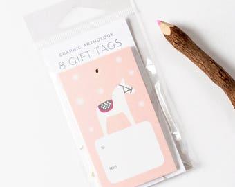 Gift Tags | Dala Horse Tags + Baker's Twine | Xmas | Scandi Inspired Christmas Gift Wrap | Set of 8