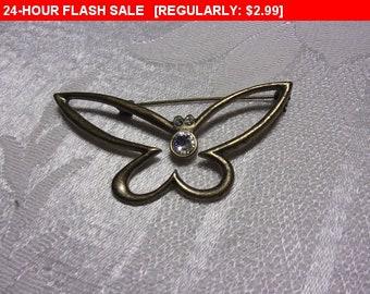 Vintage butterfly brooch, estate jewelry