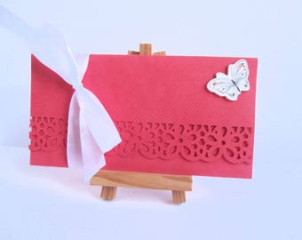Congratulations gift card - celebrate a check or a gift card - hand made creation